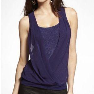 New NWT Express sleeveless pleated top shirt